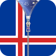 Iceland flag zip Lock Screen