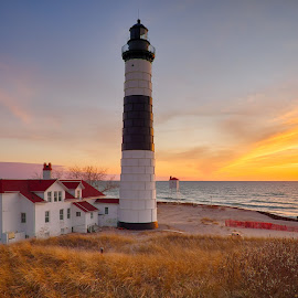Michigan Lighthouse by Stevan Tontich - Buildings & Architecture Public & Historical