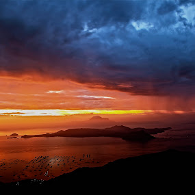 We need the rain to appreciate the sunshine. by Jundio Salvador - Landscapes Weather ( volcano, world's, active, lake, taal, philippines )