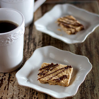 [Lightened] Peanut Butter and Salted Chocolate Shortbread