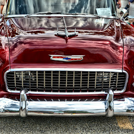 Cherry Chevy by Michael Lopes - Transportation Automobiles ( classic car, chevy bel air, 55 chevy, custom car )