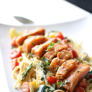 Pasta Primavera Recipe with Salmon