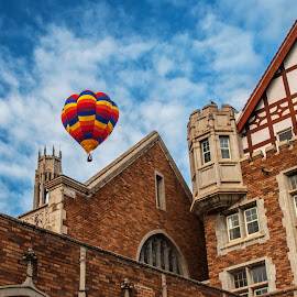 Abby School Balloon by James Martinez - Transportation Other ( school, sky, festival, balloon )