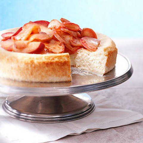 Ricotta Cheesecake with Apple Topper