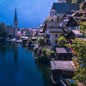Hallstatt Village by Arif Sarıyıldız - Landscapes Travel ( salzburg, lake hallstatt, hallstatt village, travel photography, austria )