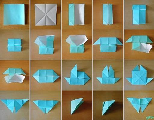 Бабочку из бумаги  оригами 82