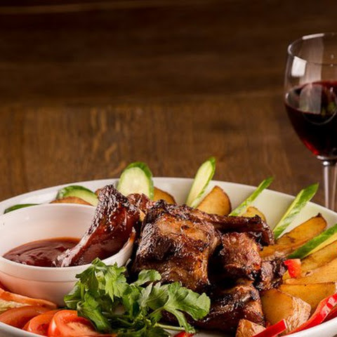 Pork Ribs With Cherry Sauce