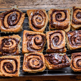 Homemade cinnamon buns by Nicky Semenza - Food & Drink Cooking & Baking ( sweet, desert, buns, sweets, cinnamon buns, cinnamon, baking, homemade )