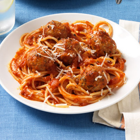 Spaghetti and Sausage Meatballs