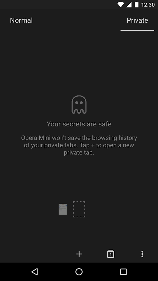 Webbrowser Opera Mini – Screenshot
