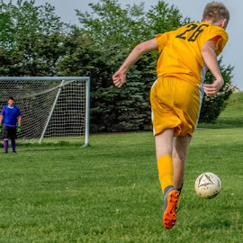 Ready To Score by T Sco - Sports & Fitness Soccer/Association football ( soccer, game, goalie, goal, forward, match, football, team, ball, field, net, sport, player )