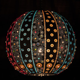 Lampshade by Doug Faraday-Reeves - Artistic Objects Still Life ( colourful, bejewelled, colorful, lampshade )