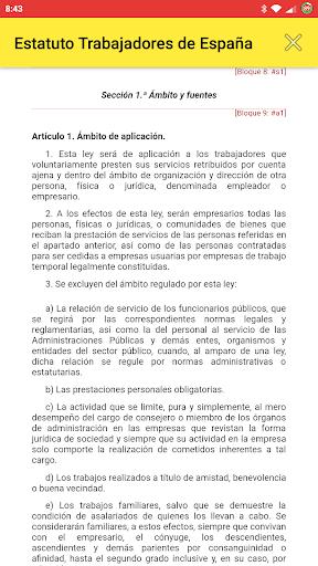 Estatuto Trabajadores de España