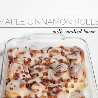 Melt in Your Mouth Maple Cinnamon Rolls with Candied Bacon