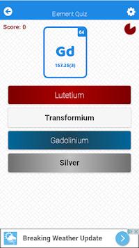 Periodic table element quiz apk 100 free educational apps for periodic table element quiz apk screenshot urtaz Images