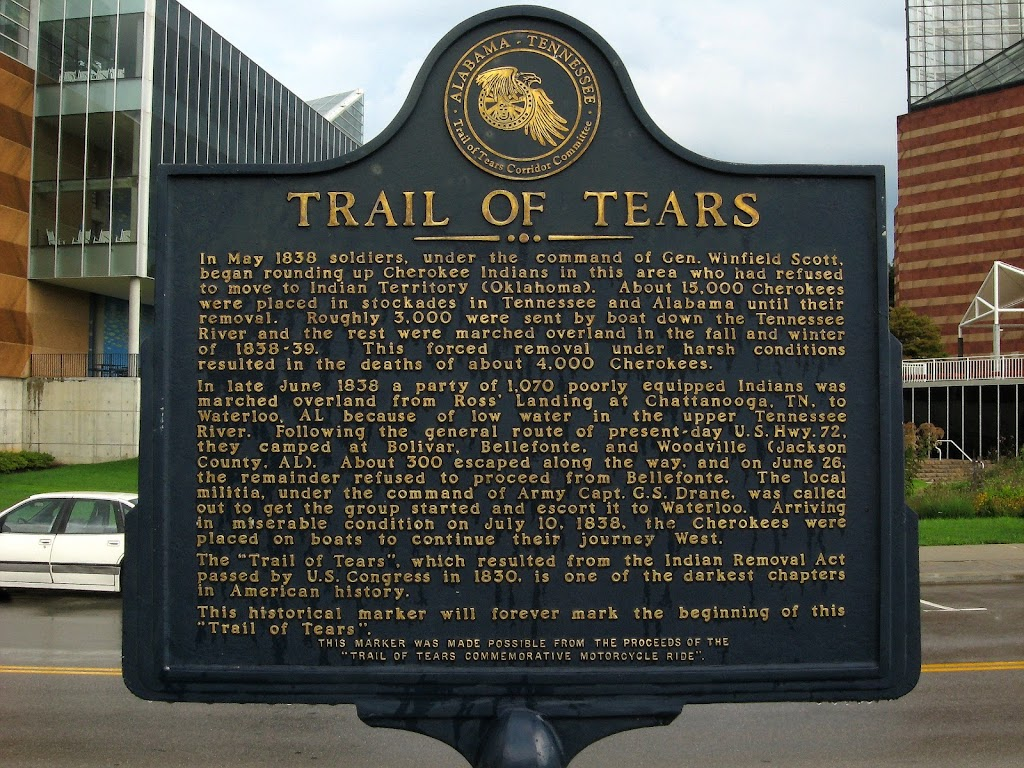 Read the Plaque  Trail of Tears