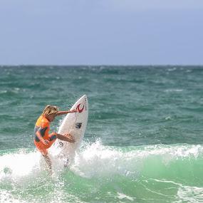 Surfing by Denis Sinoussi - Sports & Fitness Surfing ( skyline, surfing, waves, board, surf )