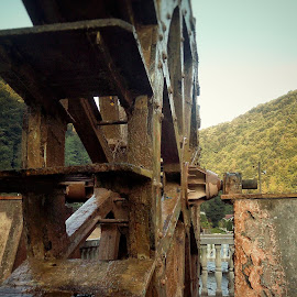 small mill wheel by Ivica Rumenovic - Instagram & Mobile Android ( water, mill, nature, wheel, relax, sunset, sun )
