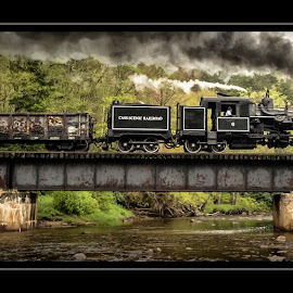 The Bridge Crossing by James Eickman - Transportation Trains