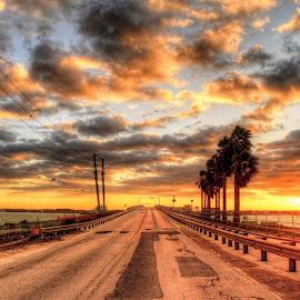 Dunedin Causeway, Florida. by Edward Allen - Landscapes Cloud Formations (  )