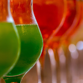 green & red by Mitja Črne - Food & Drink Alcohol & Drinks ( macro, red, glasses, green, drink )