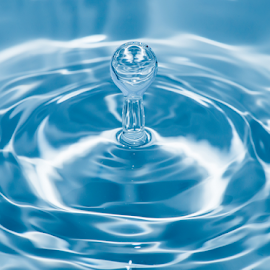 Drop in water by Deyan Georgiev - Nature Up Close Water ( calm, reflection, surface, smooth, splash, bright, drop, purity, falling, circle, clear, tranquil, macro, perfection, clean, nature, fresh, ripples, motion, light, rain, water, abstract, waterdrop, rippled, shape, close-up, bubble, liquid, environment, turquoise, pattern, splashing, blue, droplet, color, horizontal, background, drops, wave, ripple, freshness, raindrop, aqua )