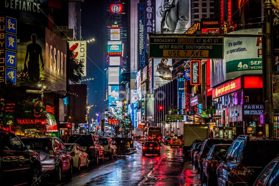 NY by Nigel Bullers - City,  Street & Park  Street Scenes ( colour, building, new, street, york, ny )