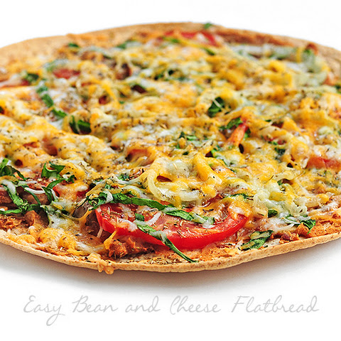 Easy Bean and Cheese Flatbread