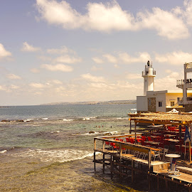 Tyr seaside by Anto Boyadjian - City,  Street & Park  Vistas ( lighthouse, sea, tyr )