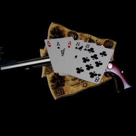 Aces and Eights a Dead Man's Hand by Murray howard-Brooks - Artistic Objects Other Objects