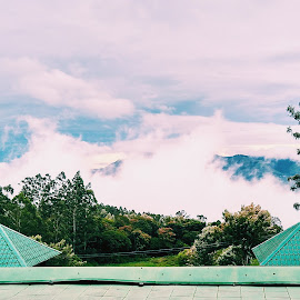 Clouds Till Horizon by Shaurya Mathur - City,  Street & Park  Skylines ( clouds, nature, awesome, green, club, beautiful, trees, resort )