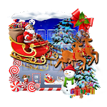 Merry Christmas Santa Keyboard Icon