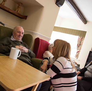 Socialising In A Retirement Home In Whiston Hall, Rotherham