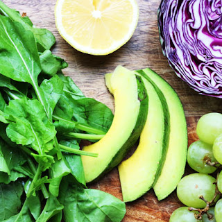 Arugula, Cabbage, Avocado Salad with Grapes