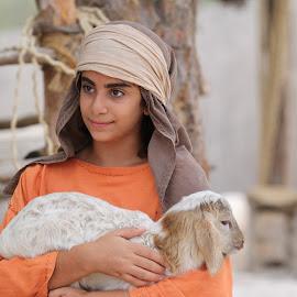 Nazareth Village, Israel by Rhetta Sweeney - Babies & Children Children Candids ( child, shepherd, jesus, nazareth village, israel )