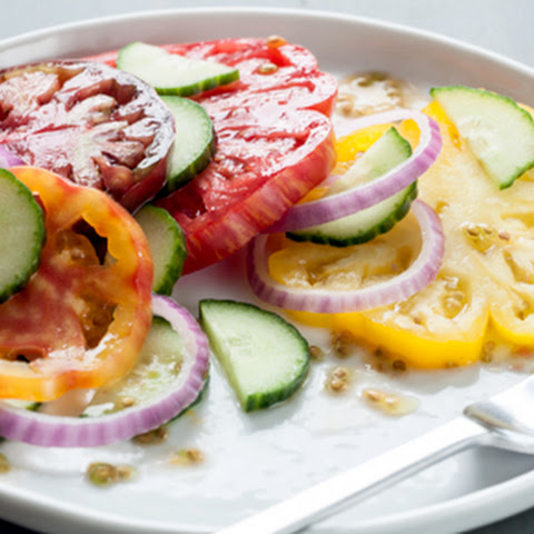 Heirloom Tomato, Cucumber and Red Onion Salad