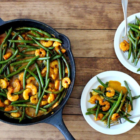 Coconut Curry Shrimp + Green Beans