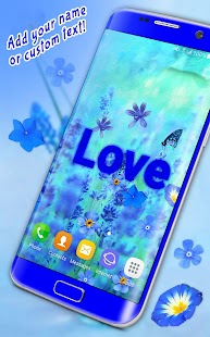 3D Blue Flowers Live Wallpaper Apk By HD Moving Wallpapers Magic Touch Clocks