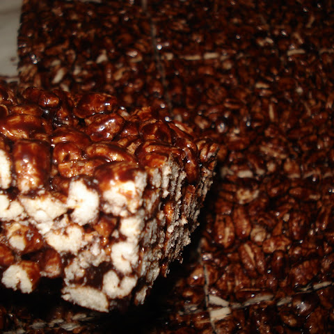 Ooey Gooey Chocolatey Puff Wheat Squares