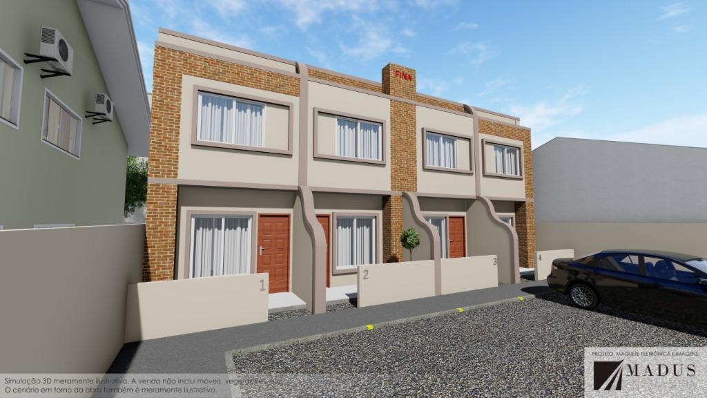 Sobrado com 2 dormitórios à venda, 61 m² por R$ 173.900 - Mata Atlântica - Tijucas/SC