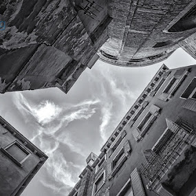 Venice from Below by Björn Olsson - Buildings & Architecture Architectural Detail ( monochrome, sky, venice, travel, italy )