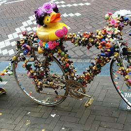Bike by Dobrin Anca - Transportation Bicycles ( bike, joy, street, duck, amsterdam )