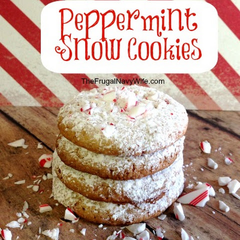 12 days of Christmas Cookies | Peppermint Snow Cookies