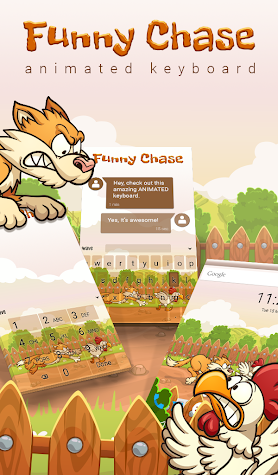 Funny Chase Animated Keyboard Screenshot