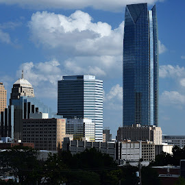 Cityscape west by Clarence Hagler - City,  Street & Park  Skylines ( oklahoma city, oklahoma, sunday, west side, downtown,  )