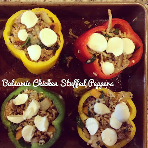 Chicken Balsamic Stuffed Peppers