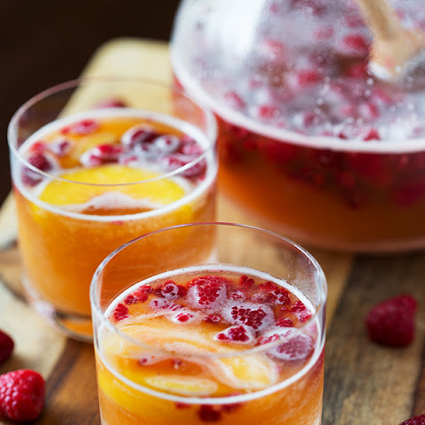 Raspberry Peach Prosecco Punch