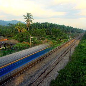 wait for me by Ezuwan Razali - Transportation Trains