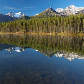 Herbert Lake mirror by Karl Jones - Landscapes Waterscapes (  )