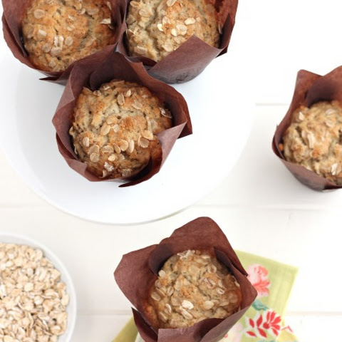 Brown Sugar Banana Nut Oatmeal Muffins